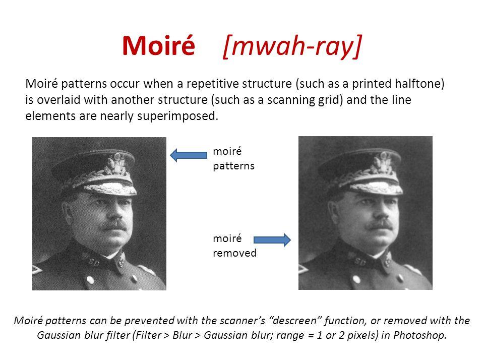 Moiré [mwah-ray]
